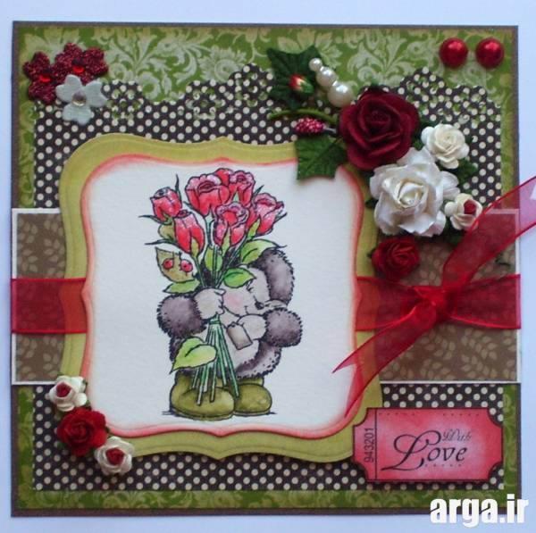 کارت پستال طراحی شده با دست