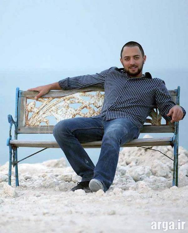عکس بهرام رادان در ساحل