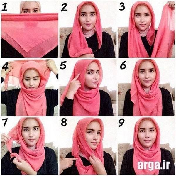 روش بستن روسری