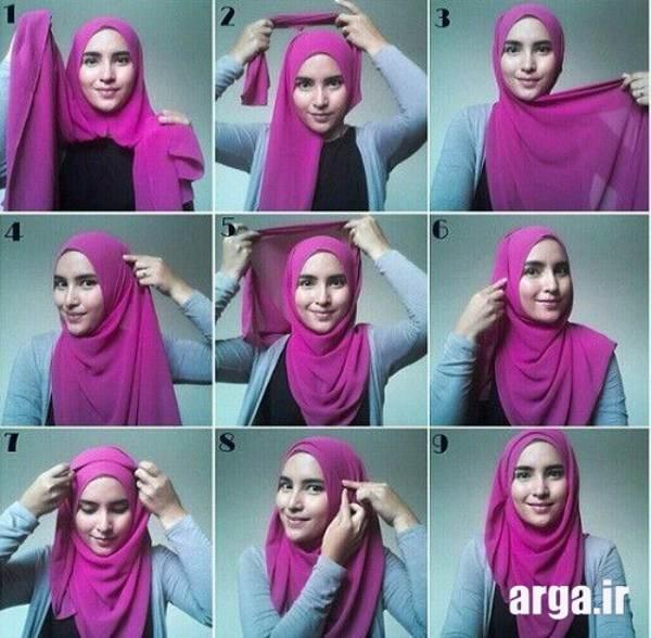 باحال ترین روش بستن روسری