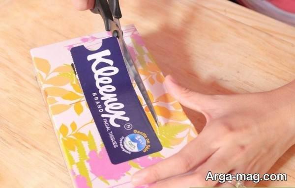 جدا کردن درپوش دستمال کاغذی
