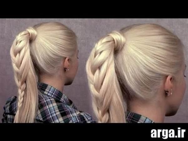 مدل مو های بافته شده ی زیبا