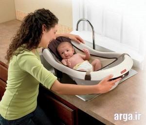 زمان استحمام نوزاد تازه متولد شده