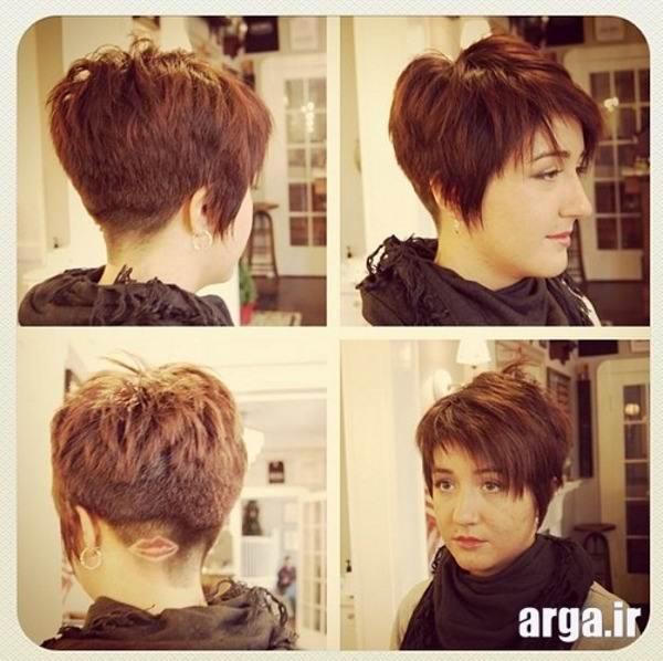 مدل مو کوتاه با حالت موج