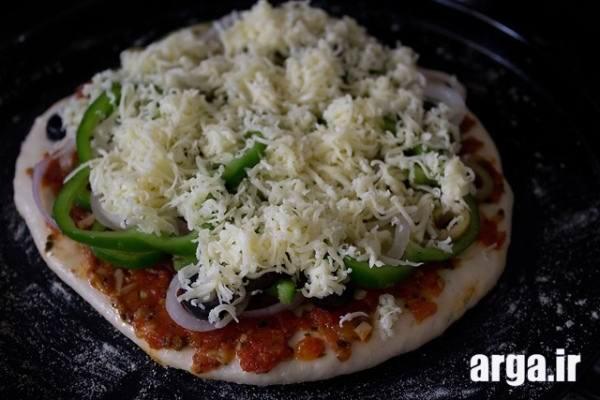 پیتزا سبزیجات نیمه اماده