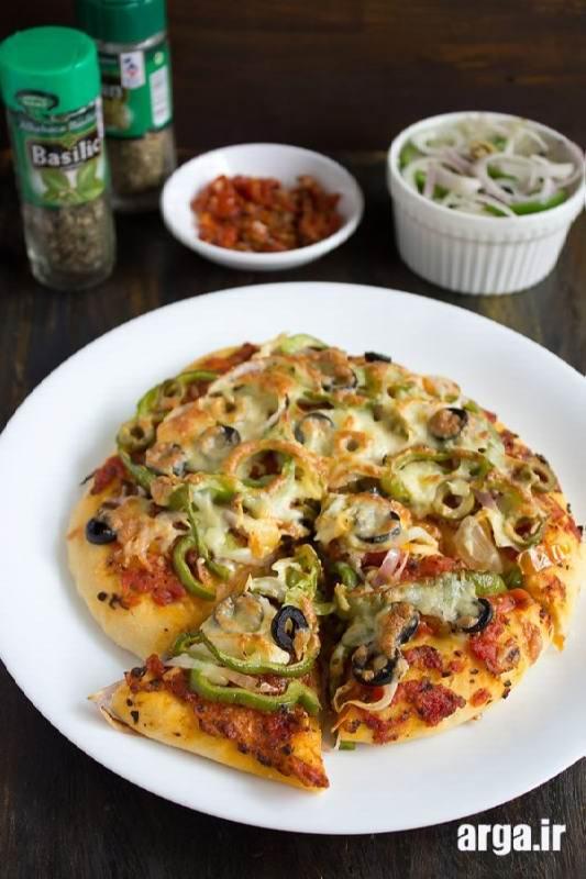 پیتزا سبزیجات اماده