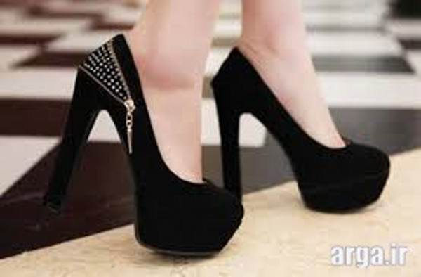کفش پاشنه بلند زیپی