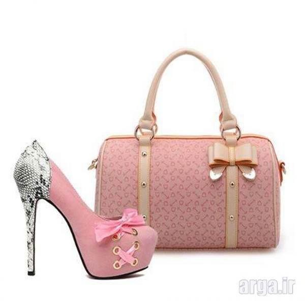 کیف و کفش  صورتی