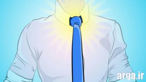 اولین مرحله بستن ساده کراوات