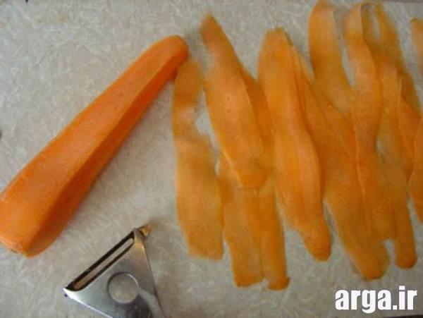 میوه آرایی هویج