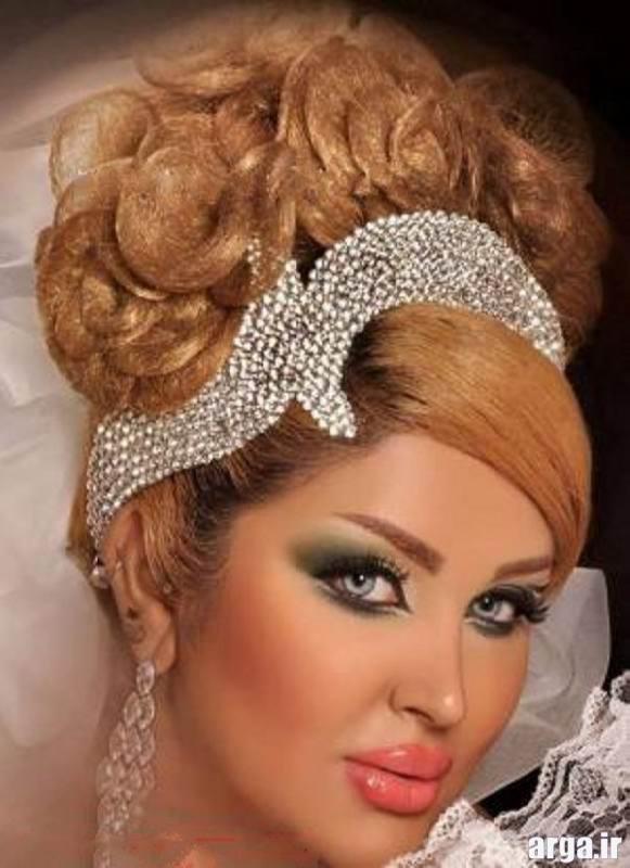 آرایش صورت جدید و مدرن عروس