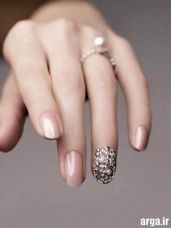 طراحی ناخن عروس ساده و زیبا