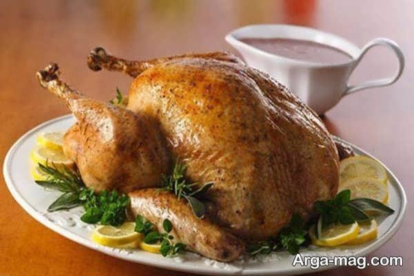 تزیین مرغ خوشمزه