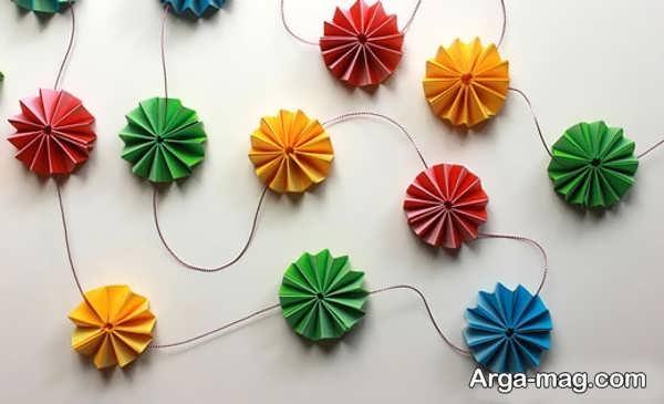 مدلهایی از خلاقیت با کاغذ رنگی