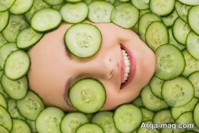 نحوه تهیه چند ماسکی از خیار که پوست صورت تان را شاداب می کند