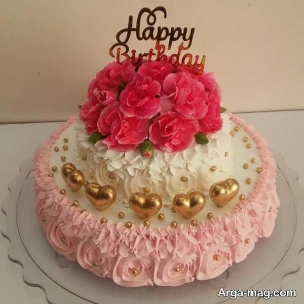 تزیینات جدید کیک تولد دو طبقه