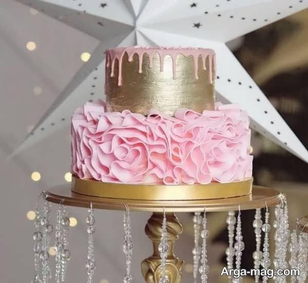 تزیین کیک تولد با طرح زیبا