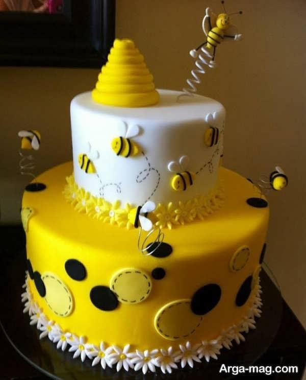 تزیینات بی نظیر کیک تولد دو طبقه