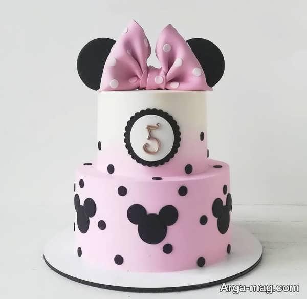 دیزاین کیک تولد دو طبقه فوق العاده