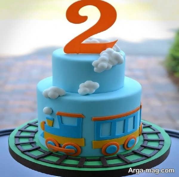 تزیینات منحصر به فرد کیک تولد دو طبقه