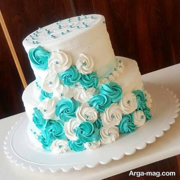 تزیینات ایده آل کیک تولد دو طبقه