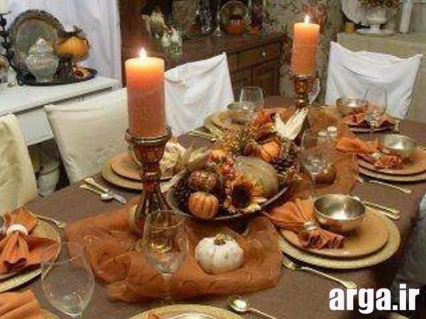 تزیین میز شام با گل