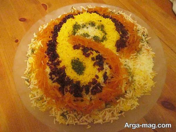 مدل تزئینات پلوی زعفرانی