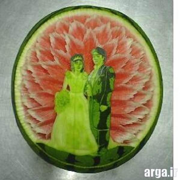حکاکی روی هندوانه