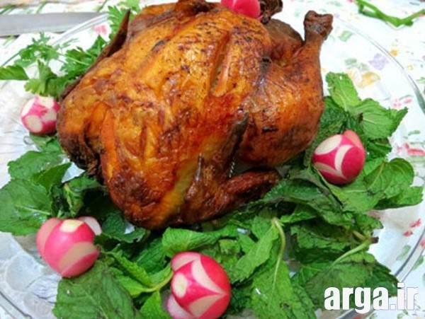 تزیینات مرغ شکم پر