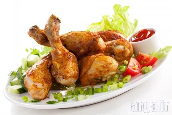تزیین ران مرغ