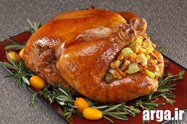 تزیین زیبای مرغ