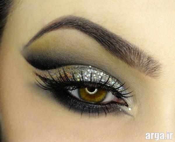 آرایش چشم زیبا با سایه متفاوت