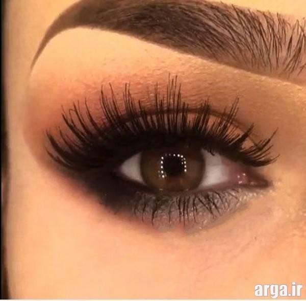 آرایش چشم با ابرو های پهن