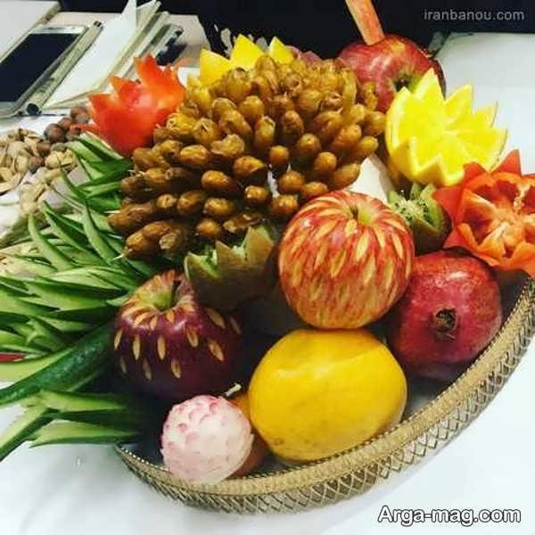 تزیین شیک و زیبای میوه