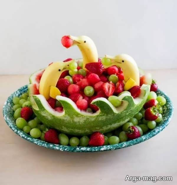 تزیین فانتزی وجالب میوه