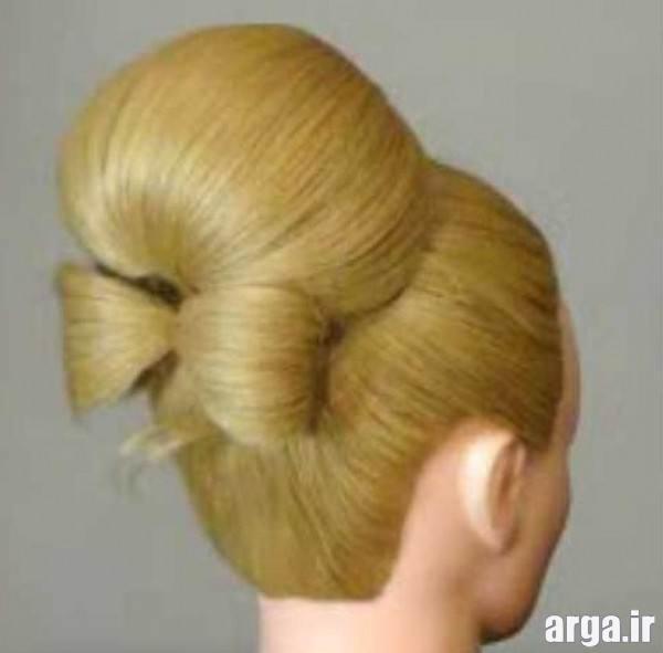 شینیون ساده موی کوتاه
