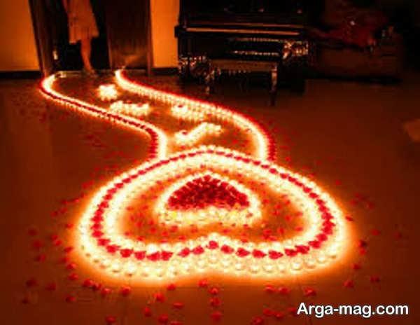 تزیینات زیبای منزل با شمع