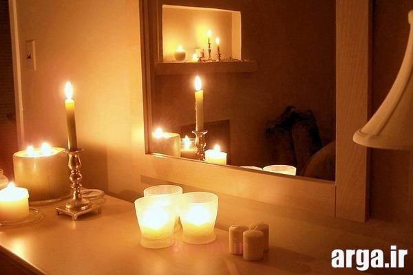 تزیینات منزل با شمع