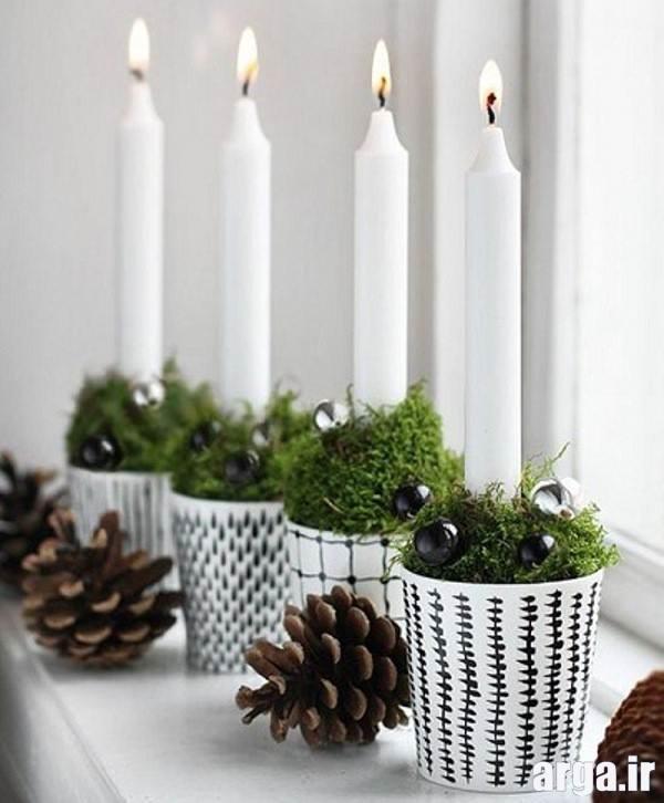 تزیین زیبا با شمع