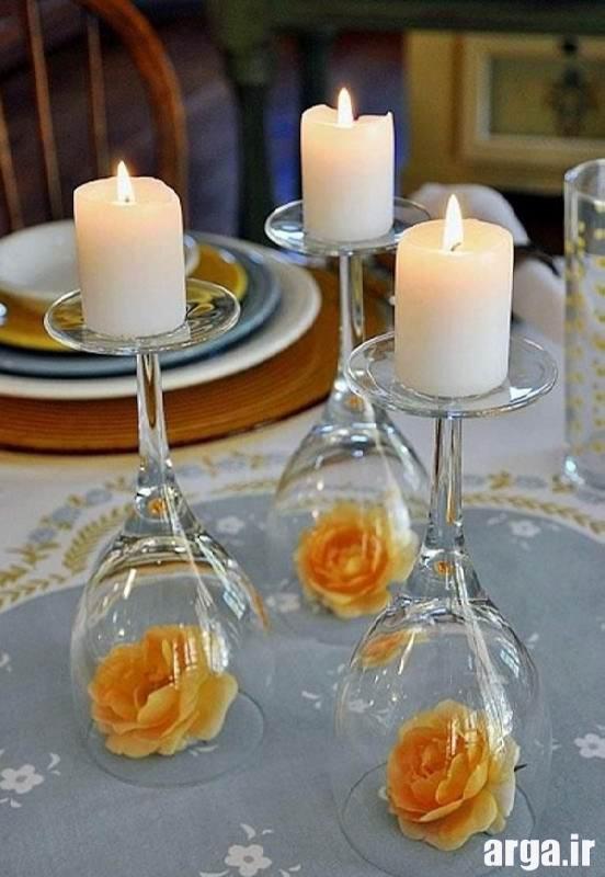 شمع آرایی شیک در منزل