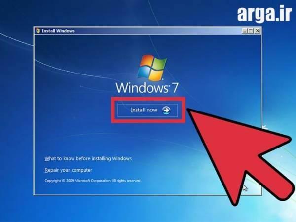 نصب ویندوز به روش ساده