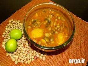 خوراک لوبیا با سیب زمینی