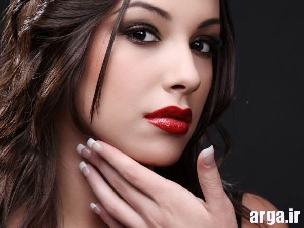 زیبا ترین آرایش صورت دخترانه