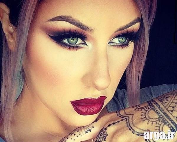 آرایش صورت زیبا و جذاب