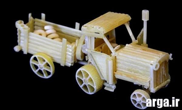 ساخت ماشین با ماکارونی