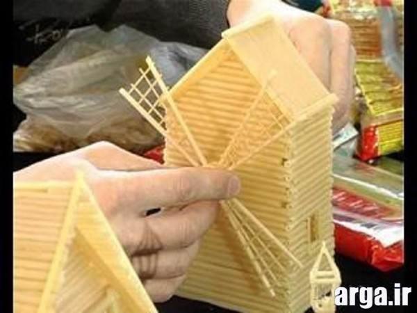 ساخت دکوری با ماکارونی