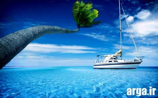 کشتی در کادر بسته طبیعت