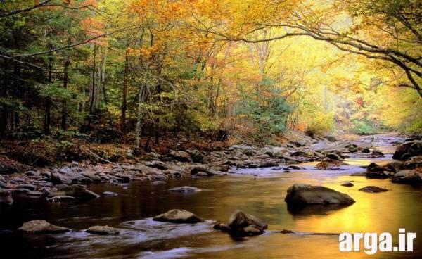 یک غروب زیبای طبیعت