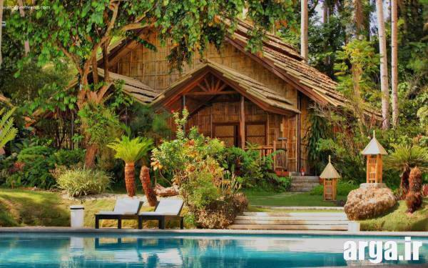 کلبه چوبی طبیعت