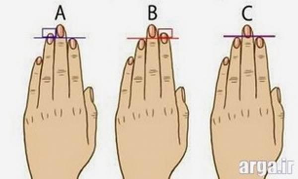 تست شخصیت طول انگشت دست